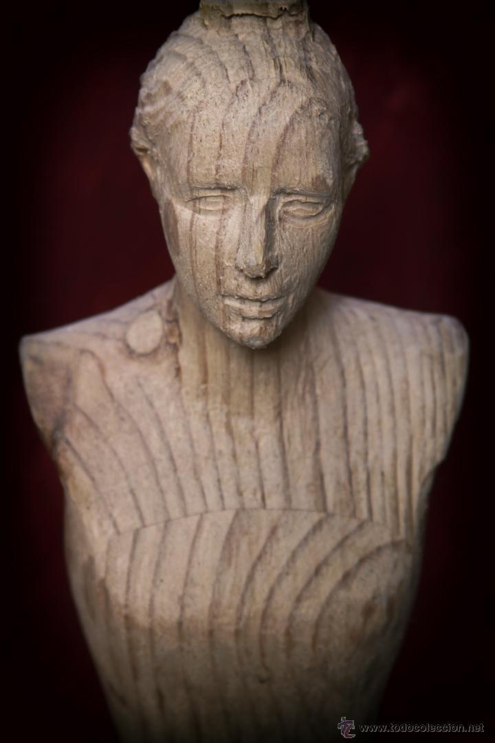 Arte: Busto de virgen en madera de pino. - Foto 4 - 49862142