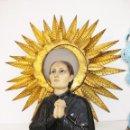 Arte: MARAVILLOSO GRAN BUSTO SANTA GEMA OJOS CRISTAL PASTA DE MADERA CIRCA 1910 OLOT LAS ARTES CRISTIANAS. Lote 49887541