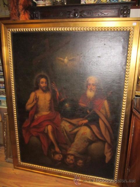 ÓLEO SOBRE LIENZO - SANTOS - DEL S. XVIII APROX. LIENZO: 91,5 X 124 CMS. (Arte - Arte Religioso - Pintura Religiosa - Oleo)