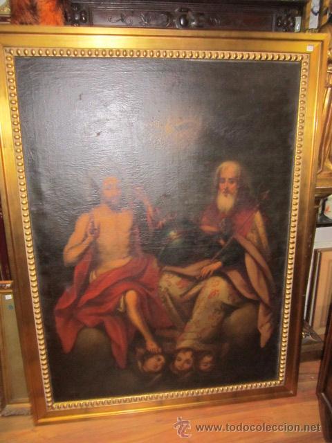 Arte: Óleo sobre lienzo - Santos - del S. XVIII aprox. Lienzo: 91,5 x 124 cms. - Foto 2 - 49993939