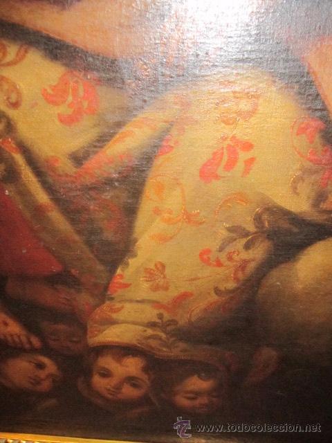 Arte: Óleo sobre lienzo - Santos - del S. XVIII aprox. Lienzo: 91,5 x 124 cms. - Foto 4 - 49993939