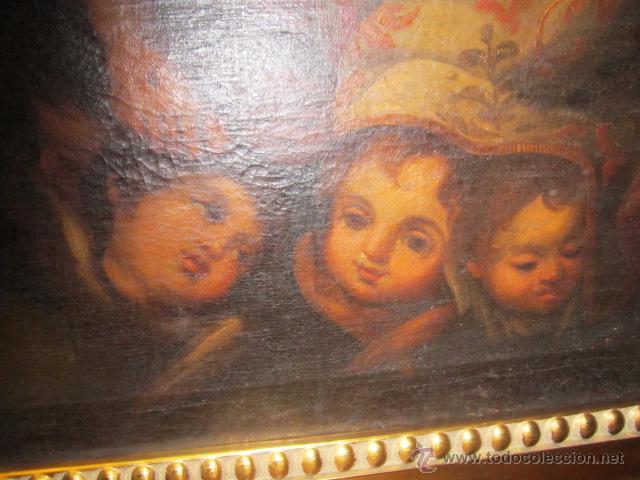 Arte: Óleo sobre lienzo - Santos - del S. XVIII aprox. Lienzo: 91,5 x 124 cms. - Foto 5 - 49993939