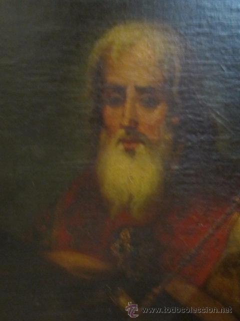 Arte: Óleo sobre lienzo - Santos - del S. XVIII aprox. Lienzo: 91,5 x 124 cms. - Foto 7 - 49993939