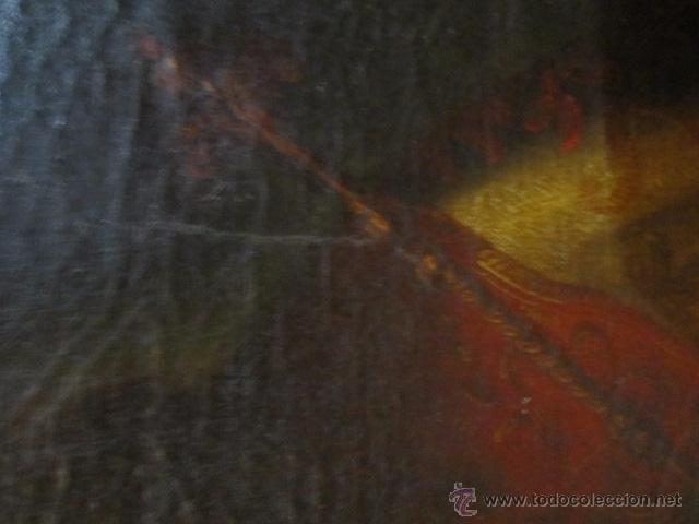 Arte: Óleo sobre lienzo - Santos - del S. XVIII aprox. Lienzo: 91,5 x 124 cms. - Foto 10 - 49993939