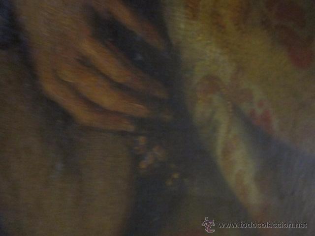 Arte: Óleo sobre lienzo - Santos - del S. XVIII aprox. Lienzo: 91,5 x 124 cms. - Foto 11 - 49993939