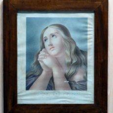 Arte: GRABADO FRANCÉS MARÍA MAGDALENA MARIE MADELEINE LE BRUN F LOUIS T S XIX MARCO CAOBA ÉPOCA. Lote 50036075