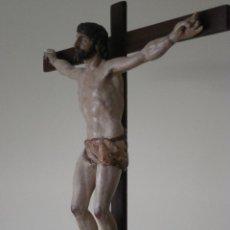 Arte: CRISTO CRUCIFICADO. ESCUELA CASTELLANA. FINALES DEL S. XVI /PRINCIPIOS S. XVII.. Lote 41982583