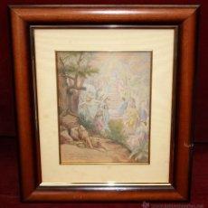 Arte: ENRIC MONSERDÀ I VIDAL (BARCELONA, 1851 - 1926) ACUARELA SOBRE PAPEL DEL AÑO 1893. ESCENA RELIGIOSA. Lote 50272746