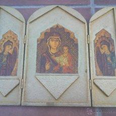 Arte: TRIPTICO VIRGEN CON NIÑO.ARTE BIZANTINO. Lote 50358166
