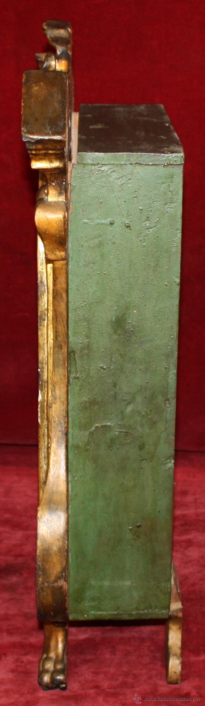 Arte: LA CRUCIFICCIÓN DE JESÚS. GRAN URNA TIPO CAPILLA DEL SIGLO XVIII EN MADERA TALLADA Y POLICROMADA - Foto 22 - 50388694