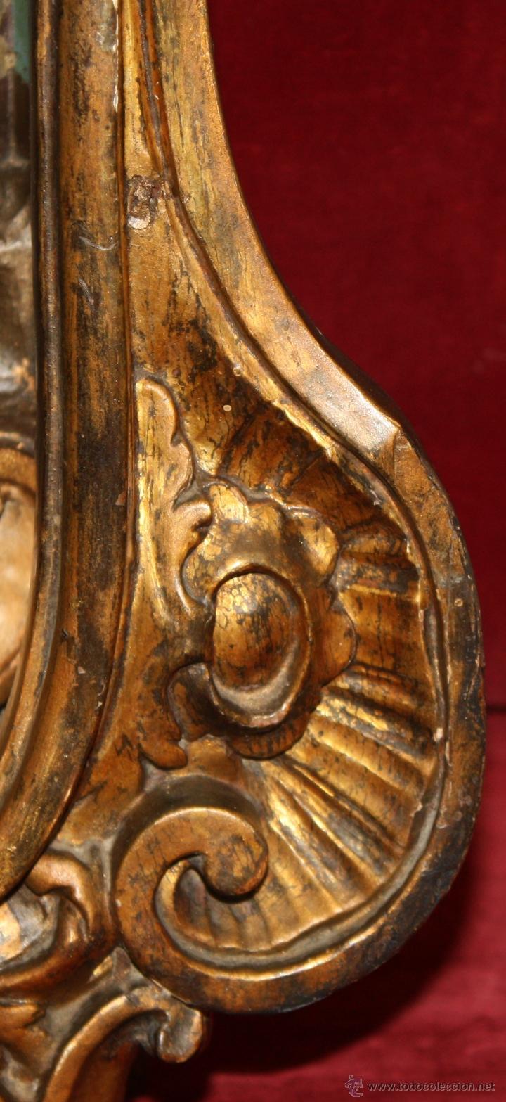 Arte: LA CRUCIFICCIÓN DE JESÚS. GRAN URNA TIPO CAPILLA DEL SIGLO XVIII EN MADERA TALLADA Y POLICROMADA - Foto 25 - 50388694
