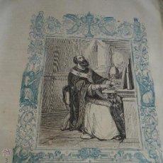 Arte: GRABADO RELIGIOSO DEL AÑO 1852 - 26X16,5 IMAGEN RELIGIOSA .- SAN LEON II PAPA Y CONFESOR. Lote 50405774