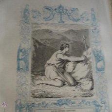 Arte: GRABADO RELIGIOSO DEL AÑO 1852 - 26X16,5 IMAGEN RELIGIOSA .- SAN SALUSTIANO CONFESOR. Lote 50406128