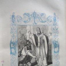 Arte: GRABADO RELIGIOSO DEL AÑO 1852 - 26X16,5 IMAGEN RELIGIOSA .- SAN LEON I PAPA Y CONFESOR. Lote 50407729