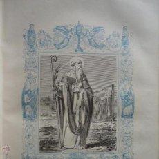 Arte: GRABADO RELIGIOSO DEL AÑO 1852 - 26X16,5 IMAGEN RELIGIOSA .- SAN EPIFANO OBISPO CONFESOR. Lote 50407758