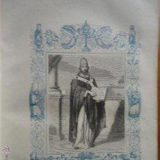 Arte: GRABADO RELIGIOSO DEL AÑO 1852 - 26X16,5 IMAGEN RELIGIOSA .- SAN CELESTINO PAPA Y CONFESOR. Lote 50407769