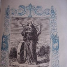 Arte: GRABADO RELIGIOSO DEL AÑO 1853 - 26X16,5 IMAGEN RELIGIOSA .- SANTA CRISTINA VIRGEN Y MARTIR. Lote 50489920