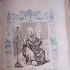 Arte: GRABADO RELIGIOSO DEL AÑO 1853 - 26X16,5 IMAGEN RELIGIOSA .- SAN VICTOR PAPA. Lote 50489987
