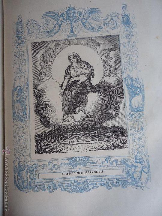 GRABADO RELIGIOSO DEL AÑO 1853 - 26X16,5 IMAGEN RELIGIOSA - VIRGEN DE LAS NIEVES (Arte - Arte Religioso - Grabados)