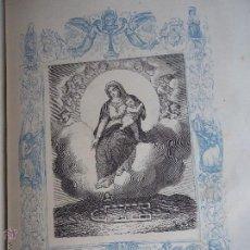 Arte: GRABADO RELIGIOSO DEL AÑO 1853 - 26X16,5 IMAGEN RELIGIOSA - VIRGEN DE LAS NIEVES. Lote 50490159