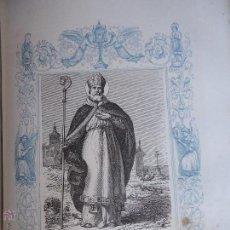 Arte: GRABADO RELIGIOSO DEL AÑO 1853 - 26X16,5 IMAGEN RELIGIOSA - SAN LUIS. Lote 50490426