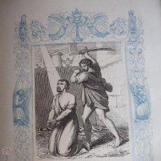 Arte: GRABADO RELIGIOSO DEL AÑO 1853 - 26X16,5 IMAGEN RELIGIOSA - SAN SINFORIANO. Lote 50490473