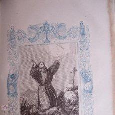 Arte: GRABADO RELIGIOSO DEL AÑO 1853 - 26X16,5 IMAGEN RELIGIOSA - LAS LLAGAS DE SAN FRANCISCO DE ASIS. Lote 50490994