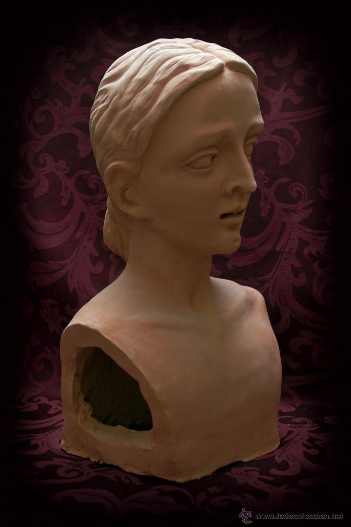 Arte: Virgen Dolorosa de tamaño natural, se entregaría ya terminada y montada en su candelero sin vestir. - Foto 2 - 50518909