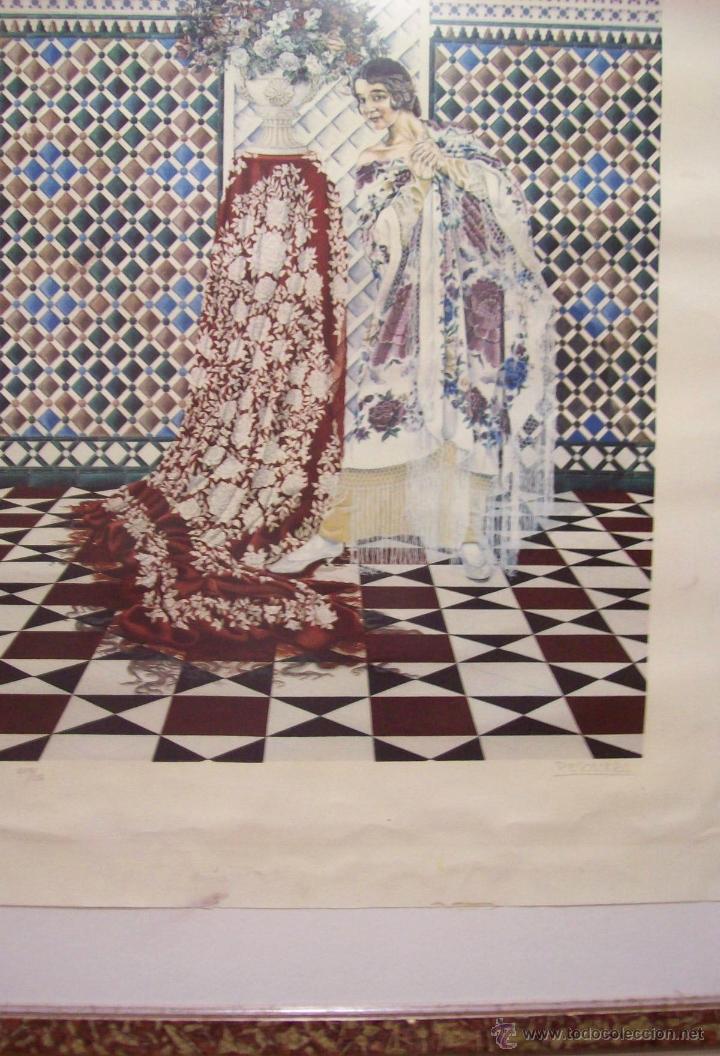 Grabado de pepe escalera contemporaneo gitana e comprar for Escalera pintor