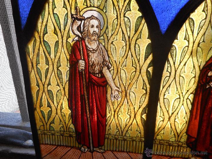 Arte: preciosa vidriera emplomada vitral gotico - Foto 2 - 50569829