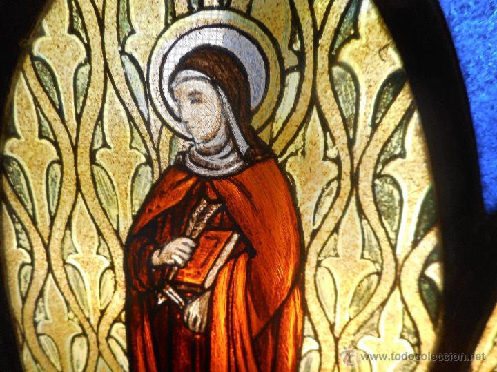 Arte: preciosa vidriera emplomada vitral gotico - Foto 3 - 50569829