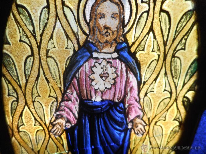 Arte: preciosa vidriera emplomada vitral gotico - Foto 4 - 50569829
