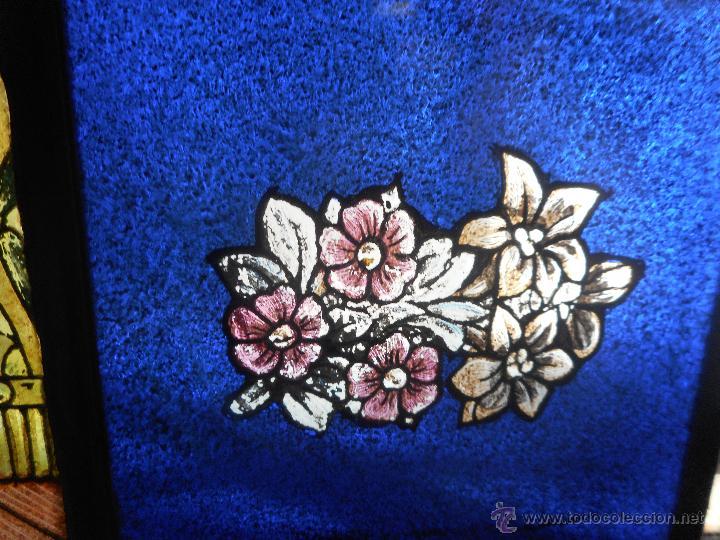 Arte: preciosa vidriera emplomada vitral gotico - Foto 5 - 50569829