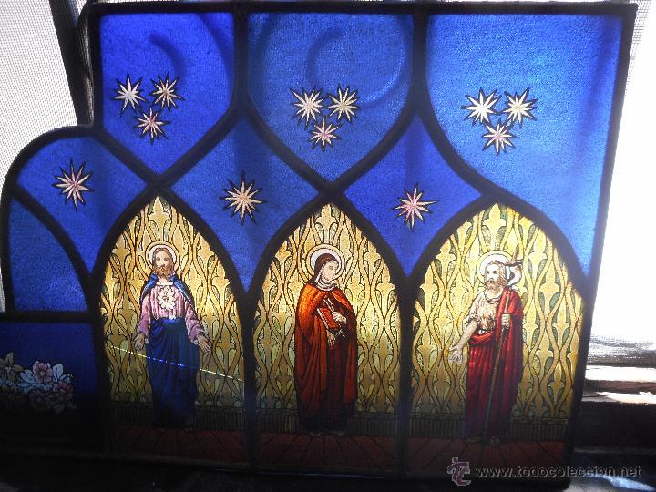 Arte: preciosa vidriera emplomada vitral gotico - Foto 7 - 50569829