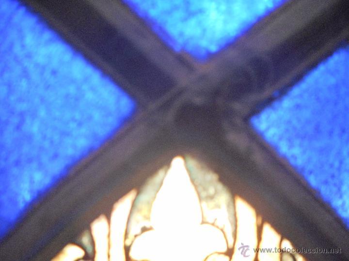 Arte: preciosa vidriera emplomada vitral gotico - Foto 10 - 50569829
