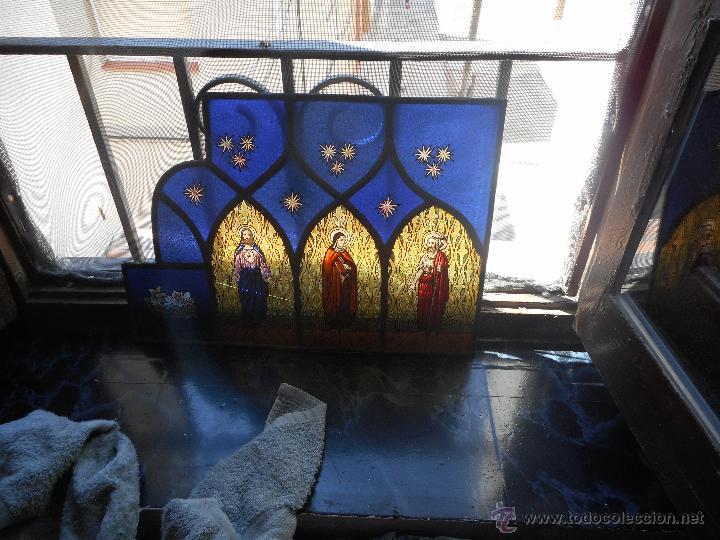 Arte: preciosa vidriera emplomada vitral gotico - Foto 12 - 50569829