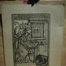 Arte: GOIGS SANT GERONI , PATRO DEL GREMI DE LLIBRETTERS DE BARCELONA - AÑO 1924 - DIPTICO. Lote 50578078
