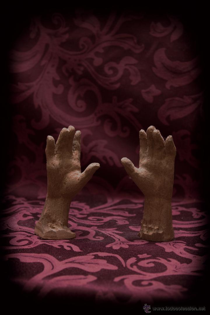 Arte: Juego de manos para virgen de 80 ctm en madera de cedro. - Foto 2 - 50590359