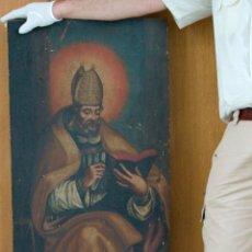 Arte: CUADRO PINTURA ANTIGUA RELIGIOSA PADRE DE LA IGLESIA SIGLO XVIII. Lote 50595616