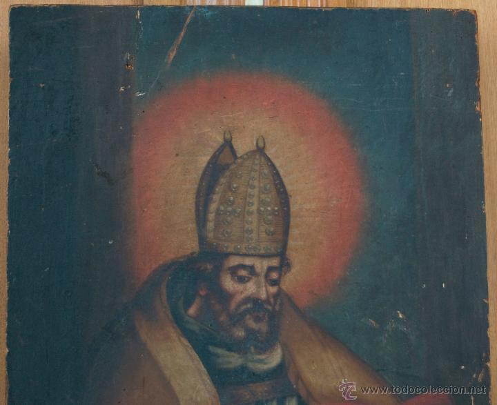 Arte: cuadro pintura antigua religiosa padre de la iglesia siglo XVIII - Foto 6 - 50595616