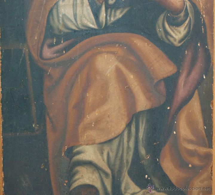 Arte: cuadro pintura antigua religiosa padre de la iglesia siglo XVIII - Foto 9 - 50595616