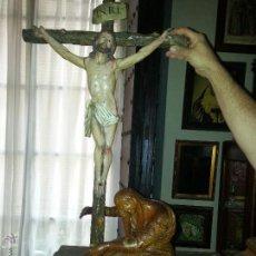 Arte: MARIA MAGDALENA O VIRGEN PARA CRISTO MONTE CALVARIO SEMANA SANTA TALLA MADERA SIGLO 18. Lote 50669945