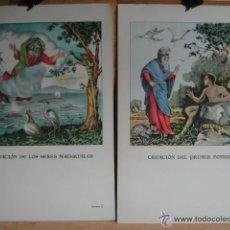 Arte: LAMINAS PARA LA ENSEÑANZA DE LA RELIGION - 30 ILUSTRACIONES - 40 X 27 CNTº - EDIT. LUMEN. Lote 171377382