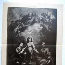 Arte: LITOGRAFIA DE LA ILUSTRACION ARTISTICA. LA SAGRADA FAMILIA. Lote 50729326