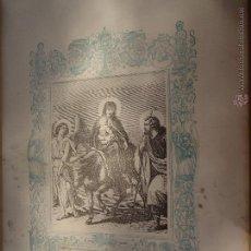 Arte: GRABADO RELIGIOSO DEL AÑO 1854 - 26X16,5 IMAGEN RELIGIOSA - LA HUIDA A EGIPTO. Lote 50746380