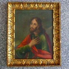 Arte: CUADRO PINTURA AL OLEO SIGLO XVIII O XVII ARTE ANTIGUO RELIGIOSO SANTO. Lote 50785673
