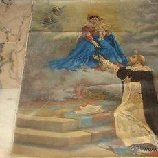 Arte: ANTIGUO CUADRO RELIGIOSO LIENZO PINTADO AL OLEO 100 X 82 AÑO 1898. Lote 50887368