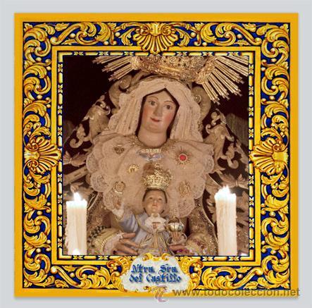 AZULEJO 20X20 DE LA VIRGEN DEL CASTILLO (PATRONA DE LEBRIJA) (Arte - Arte Religioso - Escultura)