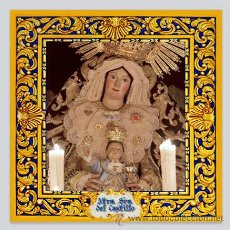 Arte: AZULEJO 20X20 DE LA VIRGEN DEL CASTILLO (PATRONA DE LEBRIJA). Lote 51144133