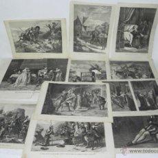 Arte: 11 GRABADOS DE DON QUIJOTE, 9 SON DEL GRABADOR V. BARNETO, Y 2 DE S. NARVAEZ, UNO DE ELLOS TIENE UNA. Lote 51056087